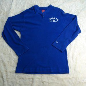 NFL New York Giants Blue Thermal L/S Shirt X-Large